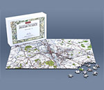 Personalised Jigsaw map centred on your home