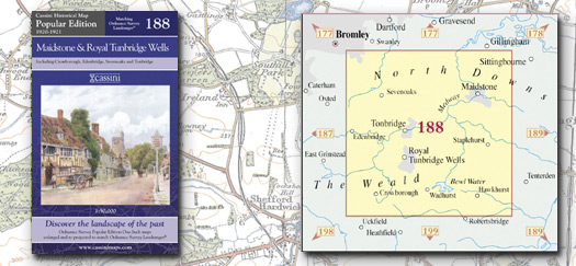 Cassini Maps Popular Edition 188 Maidstone Royal Tunbridge